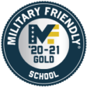 Badge of Military Friendly School 2020-2021 Gold